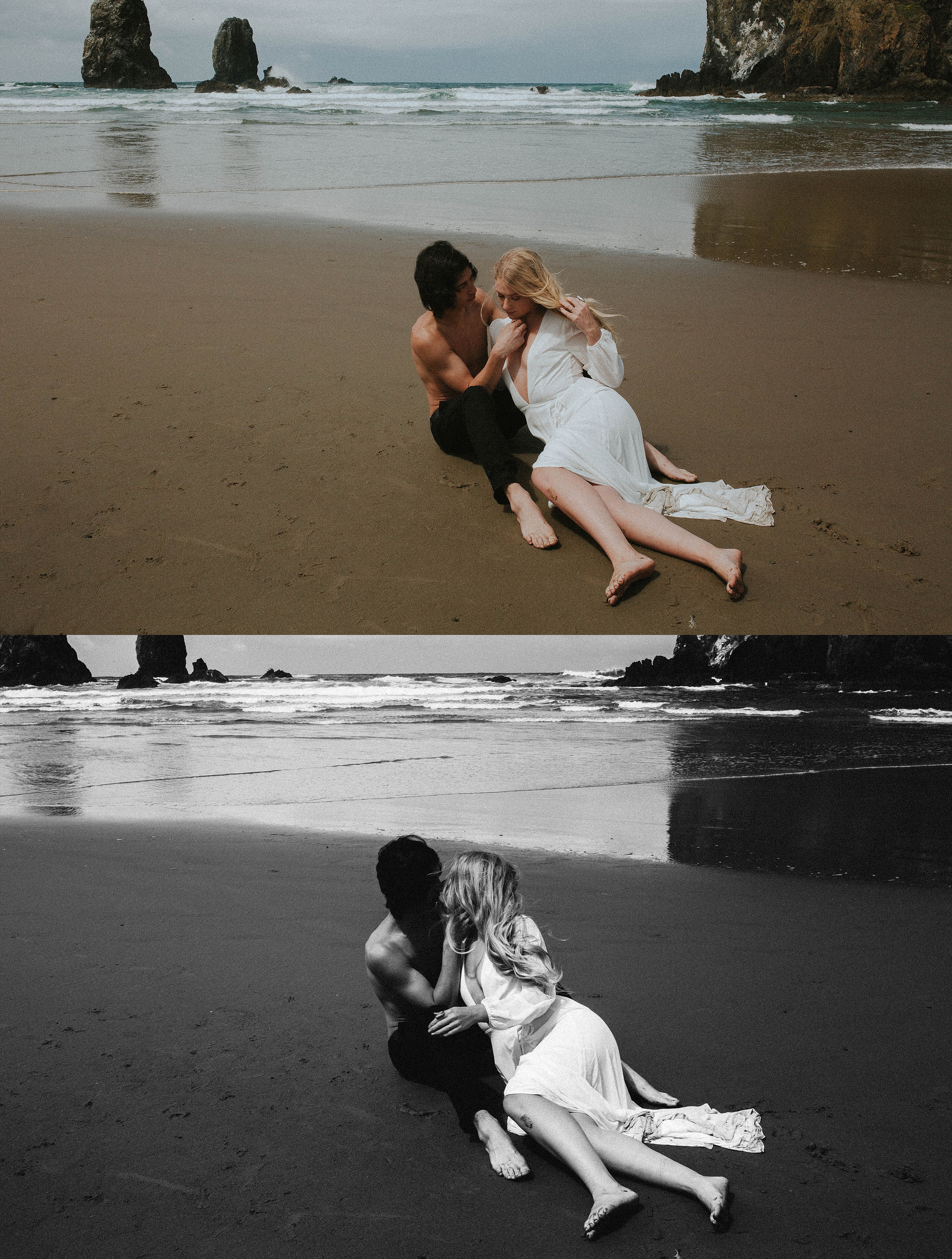 Couples on a beach Adri de la cruz Chicago intimate wedding photographer (2)