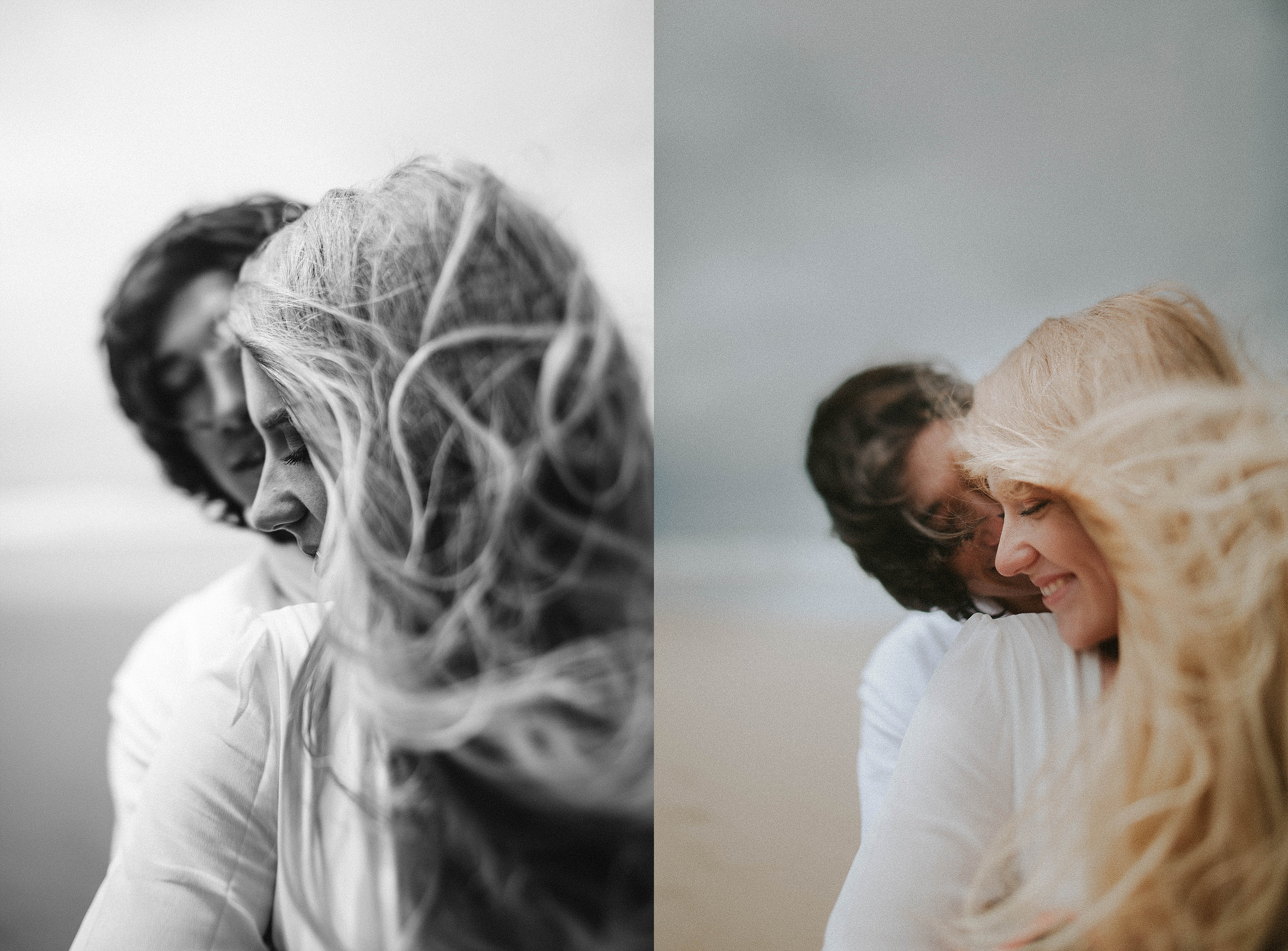 Couples on a beach Adri de la cruz Chicago intimate wedding photographer (7)