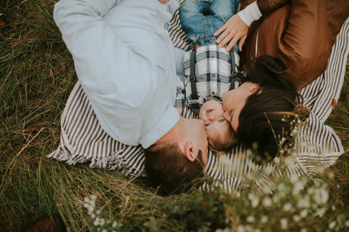 The Anderson Family | a beautiful cloudy morning at Busse Woods In Elk GroveVillage