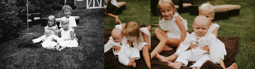 cousins at baptism
