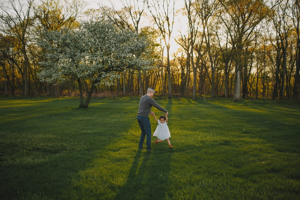 dad and daughter playing